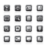 Business and office  Icons. Vector icon set Royalty Free Stock Photo