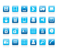 Business and office icons. Vector icon set Stock Images