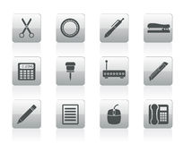 Business and Office icons. Vector icon set Stock Photos