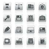 Business and office icons. Vector icon set Royalty Free Stock Images