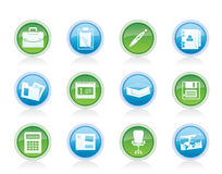 Business and office icons. Vector icon set Stock Image