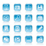 Business and office Icons. Vector icon set Royalty Free Stock Photography