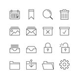 Business & Office Icons - Vector illustration , Line icons set Royalty Free Stock Image
