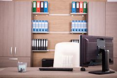 Business office interior. Comfortable and modern workspace Stock Image