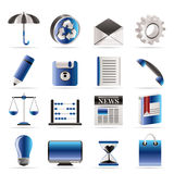 Business and Office internet Icons Royalty Free Stock Photo