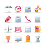 Business and Office internet Icons Royalty Free Stock Photography