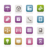Business and Office internet Icons Stock Photos