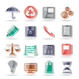 Business and Office internet Icons Stock Image