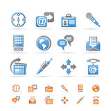 Business, office and internet icons Stock Photos