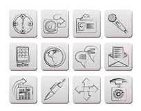 Business, office and internet icons Royalty Free Stock Photo