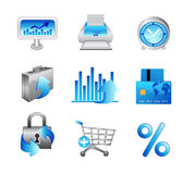Business Office Internet Icons #2. Light Blue Theme - Vector set with no transparency