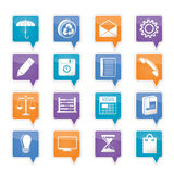 Business and Office internet Icons Royalty Free Stock Photos