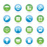 Business and Office internet Icons Royalty Free Stock Image