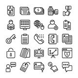 Business and Office Line Vector Icons 14 Stock Images