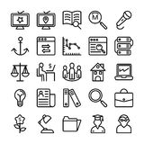 Business and Office Line Vector Icons 15 Stock Photography