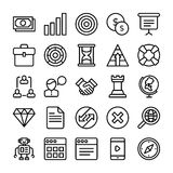 Business and Office Line Vector Icons 2. Here is a useful and trendy Business and Finance Vector Icons pack. Hope you can find a great use for them in finance Royalty Free Stock Photos