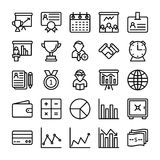 Business and Office Line Vector Icons 16 Royalty Free Stock Photography