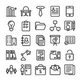 Business and Office Line Vector Icons 7 Stock Photos