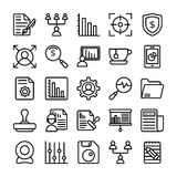 Business and Office Line Vector Icons 20 Royalty Free Stock Images