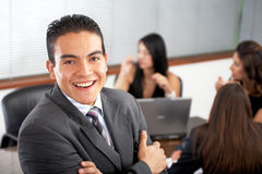 Business Office man with his team Royalty Free Stock Photography