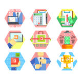 Business, Office and Marketing Icons. Vector Set Royalty Free Stock Images