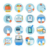Business, office and marketing items icons. Stock Images