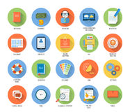 Business, office and marketing items icons. Stock Image