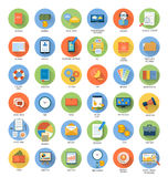 Business, office and marketing items icons. Stock Photos