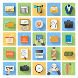 Business, office and marketing items icons. Royalty Free Stock Photos