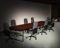 Business Office Meeting Room Illustration. Royalty Free Stock Image