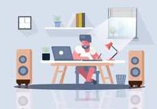 Business office men workplace royalty free illustration