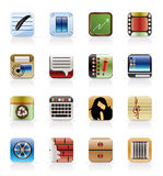 Business, Office and Mobile phone icons Royalty Free Stock Photos