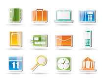 Business, Office and Mobile phone icons Stock Photo