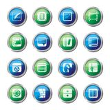 Business, Office and Mobile phone icons over colored background. Vector Icon Set stock illustration