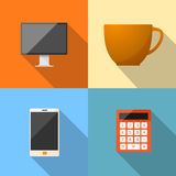 Business Office Modern Life Style Color Icon. Stock Images