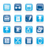 Business and office objects icons Royalty Free Stock Image