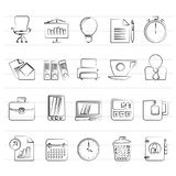 Business and office objects icons. Icon set Royalty Free Stock Photography