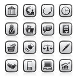 Business and office objects icons Stock Photography