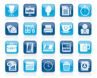 Business and office objects icons Stock Image