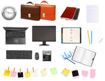 Business and office objekts and supplies. Royalty Free Stock Photography