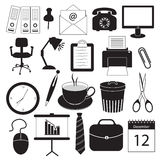 Business and Office Organization Icons Royalty Free Stock Photo