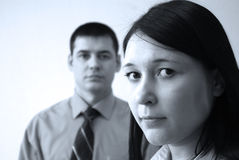 Business office partners. Men and woman in office Royalty Free Stock Image
