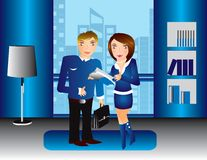 Business office people  Illustration Royalty Free Stock Photo