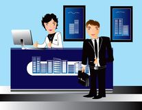 Business office people  Illustration Stock Image