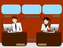 Business office people  Illustration Stock Photos