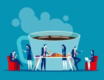 Free Business Office People On Coffee Break. Concept Business Relax Vector Illustration, Office Lunch Time Royalty Free Stock Photos - 170573438