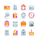 Business and Office Realistic Internet Icons Stock Photo