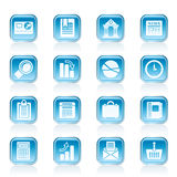 Business and Office Realistic Internet Icons Royalty Free Stock Images