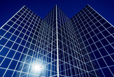 Business Office Reflective Glass Building Stock Image