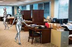 Business Office, Robot, Robots, Technology Royalty Free Stock Images